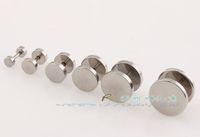screw back earrings - 8mm pc Black Mens Stainless Steel Barbell screw back earrings Ear Stud Earrings Fashion