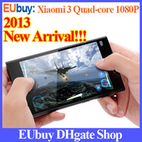 Wholesale Newest Original Xiaomi Mi3 M3 Phone Qualcomm CPU GHz Quad Core Android Phone quot IPS PPI MP Camera WCDMA GSM