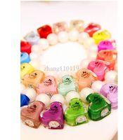 Pinks Nail Polish Gradient Summer color nail polish colorful multicolor 5 pieces heart type 8032 wholesale nail polish