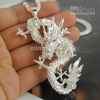 Asian & East Indian Men's Animal Wholesale - Fashion Chinese Dragon Pendant Necklaces Fashion Jewelry P067