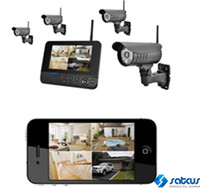 Wholesale 7 quot IR CUT LCD Monitor Remote Home Surveillance CH Digital Wireless Camera iOS and Android Smartphone Based fps Night Vision PIR Actived