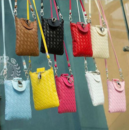 Wholesale new fashion bag casual woven bag small shoulder bag mobile phone package