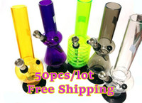 Wholesale shisha Acrylic metal hookah Water Reuse Tobacco Portable Mini rasta Smoking pipe