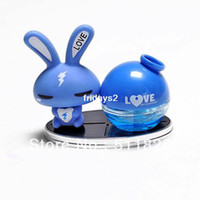 Wholesale Lovely rabbit car perfume seat crystal perfume perfume bottle quality decoration
