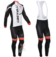 Wholesale High Quality Winter Cycling Jersey Castelli Team Thermal Fleece Cycling Clothing Bib Pants Suit Outdoor Bicycle Clothing Cycling Wear
