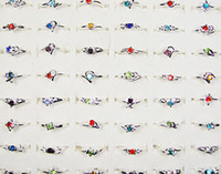 Wholesale G jewelry WOMENS RINGS rhinestone K k Silver Plated Rings New Imitation Rhodium Plated LR120