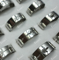 Three Stone Rings mens jewelry lot - G Mixed fashion mens stainless steel rings jewelry LR117