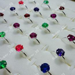 Wholesale 500Pcs Set Multicolor Acrylic Children Cheap Metal Rings For Boys Grils Kid Jewelry Bulk LR263