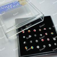 Wholesale 24Pcs Set Jewelry Bulk Set Pretty Enamel Nose Studs Body Pierce Bulk LR311