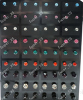 Wholesale G jewelry stainless steel multicolor Rhinestone Stud Earrings LR286