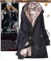 Wholesale new women down parkas lady winter clothing outerwear Faux fur lining women s fur jackets Overcoat Tops xcvbb