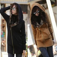 Wholesale 2014 new winter leopard caps thick hooded women Korean women