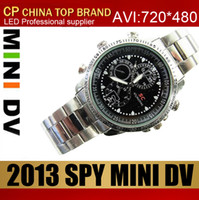 Wholesale 30pcs Spy camera Waterproof Spy Watch Camera mini dv dvr camera hidden Camera GB