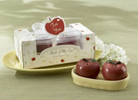 apple giveaway - Apple of My Eye Apple Salt and Pepper Shakers Wedding Favors Wedding Gifts Party Favors centerpieces giveaway accessorie supplie