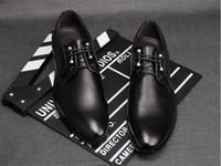 Wholesale 2013 New Autumn Men s Leather Shoes Men s casual shoes Men s wedding shoes Simple fashion Tip Leather Shoes