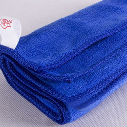 Wholesale 12 Dozen Blue quot x16 quot Microfiber Towel Car Cleaning Cloth ultra absorbent Washing Cloth Car New and hot selling