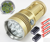 Wholesale SkyRay King Mode Lumen x CREE XM L T6 LED Flashlight mAh Battery Dual Charger