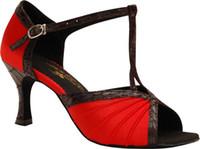 zapatos baratos de baile femenino latino adulto saltan los zapatos inferiores suaves en mujeres con zapatos de baile de salón de baile de las mujeres de tacón alto de los zapatos de baile latino Square