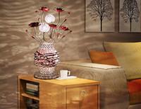 nimi116 Европейский современный минималистский моды Кристалл Настольная лампа Спальня прикроватный Свет Гостиная Освещение Творческий Алюминиевые Настольные лампы