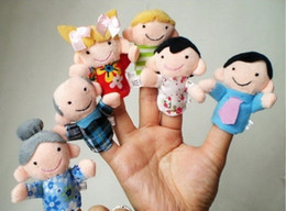 Plush Finger Puppet Family Set Of 6piece,Plush Cartoon,Hand puppets For Kids Educational Story Teller Talking Props