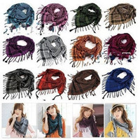 Wholesale Korean Hot Sale Winter men and women Plaid ladies Scarf Shawl couple Plover tassel Desigh W4188