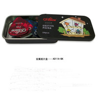 Wholesale Alice ferrous metal paddles boxes get guitar picks Set