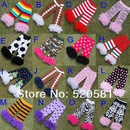 Wholesale Chiffon Ruffle Leggings - Wholesale Fluffies Chiffon Ruffle Football Lace Leg Warmers For Baby Girls Zebra Kids And Baby Ruffled Leggings 16 colors