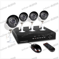 Wholesale LLFA2132 CH full D1 H DVR Security System with Four Indoor Outdoor Night Vision Surveillance Cameras