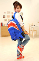 Backpack Style Women Cartoon 2014 new designed fashion shark backpack for women and men school bag free shipping