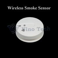 Smoke Detectors   Wireless smoke detector Heat&Photoelectric fire Smoke sensor Alarm with LED flashing for home burglar alarm system
