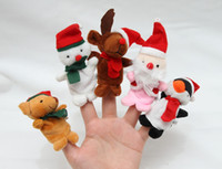 Wholesale Retail Lovely Christmas finger Puppets toys Felt Boards Baby Hand Puppet toy baby Finger Toy different animal models