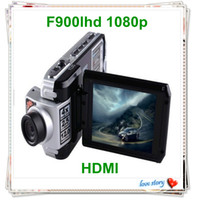 Wholesale HOT Auto Electronic FULL HD P Car DVR camcorder support up to GB SD SDHC card night vision cycle recording F900LHD
