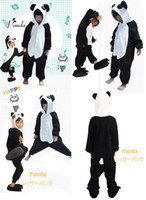Wholesale new kids style the Chinese panda anime cospaly costme flannel and fleece onesie pajamas unisex sleepwear