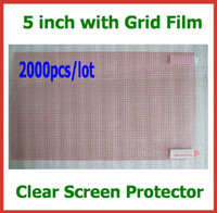 camera screen protector - 2000pcs inch CLEAR Screen Protector Universal with Grid No Retail Packaging Size x65mm for Mobile Phone MP3 MP4 Camera Protective Film
