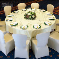 Wholesale Lycra Spandex Round Top amp Square top Chair Covers Wedding Favors Party White Black Ivory Polyester Folding Banquet Universal Chair Covers