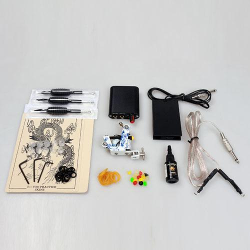 Professional tattoo kit set 2 tattoo machine guns 7 col for Cheap tattoo kits amazon