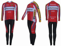 Full barloworld cycling team - Winter clothes Barloworld team Winter long sleeve cycling jerseys pants bike bicycle thermal fleeced wear set Plush fabric