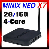 Quad Core Included 1080P (Full-HD) MINIX NEO X7 Android TV Box RK3188 Quad Core Media Hub Player For Android 4.2.2 2GB RAM 16GB ROM Mini PC 1.6GHz WiFi HDMI USB RJ45 OTG XBMC