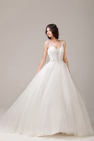 Garden Autumn/Spring Simple Grecian Style White Tulle V Neck A Line Corset Organza Ruffle Wedding Dress Bridal Gown