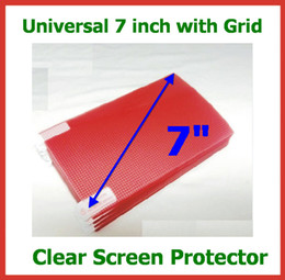 Wholesale 10pcs Universal inch CLEAR Screen Protector Protective Film with Grid Size x92mm for Mobile Phone GPS Tablet PC Camera