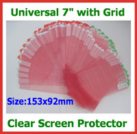 Wholesale 100pcs Universal inch CLEAR Screen Protector Guard Film with Grid Size x92mm No Retail Packaging for Tablet PC Mobile Phone GPS Camera
