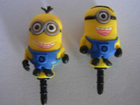 Wholesale 3D Eyes Despicable Me Mobile phone mm Despicable Me Mobile phone dustproof plug