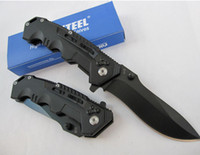 aluminium pocket knife - NEW Cold Steel HY217 Tactical Hunting Pocket Knife Folding Knives Cr17 HRC Blade Black Aluminium Handle freeshipping