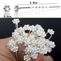 Wholesale 30 Off Wedding Bridal Pearl Flower Hair Pins Hair Clips Bridesmaid Hair Accessories JH03003