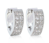 Wholesale Jewellery dazzing4 pc white sapphire K Gold Plated stunds Earrings for gift