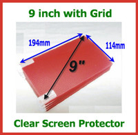 Wholesale 50pcs inch Universal Clear Screen Protector with Grid Size x114mm for Mobile Phone GPS MP3 MP4 MID Tablet PC