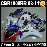 7gifts Blue white red For HONDA CBR1000RR 08- 11 CBR 1000 100...
