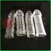 Wholesale 4pcs different sytles condoms penis extender penis sleeve Sex Toy Sex products Adult toy