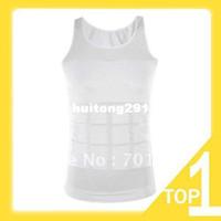 Cotton Men Animal Holiday Sale New 1pc Black Color Men's Vest Tank Top Slimming Shirt Corset Body Shaper Fatty Y3238