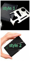Wholesale 100pcs new arrival knife CardSharp Credit Card Safety Sharp Knife Plain Edge Pocket Knife in Retail card box